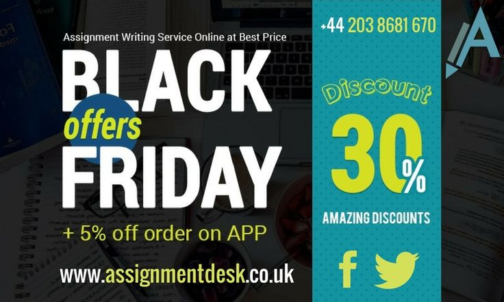This Black Friday get 30 % OFF + Extra 5% OFF by taking the assignment help through through mobile apps so save more money on this weekend and get quality services from professional academic writers.