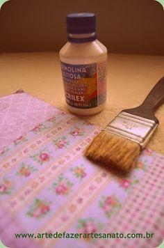 Como forrar prendedor de roupa com tecido | PAP ~ Arte De Fazer | Decoração e Artesanato