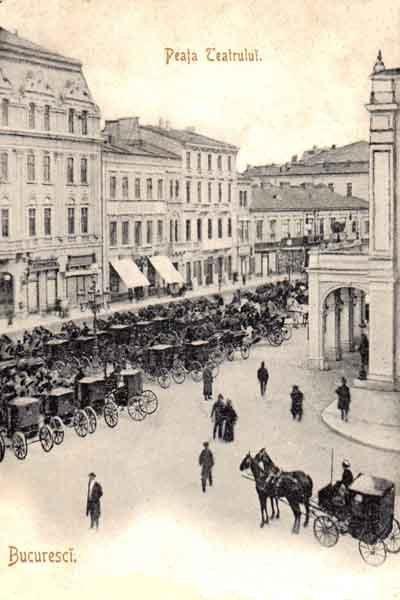Bucuresti, Piata Teatrului, 1908