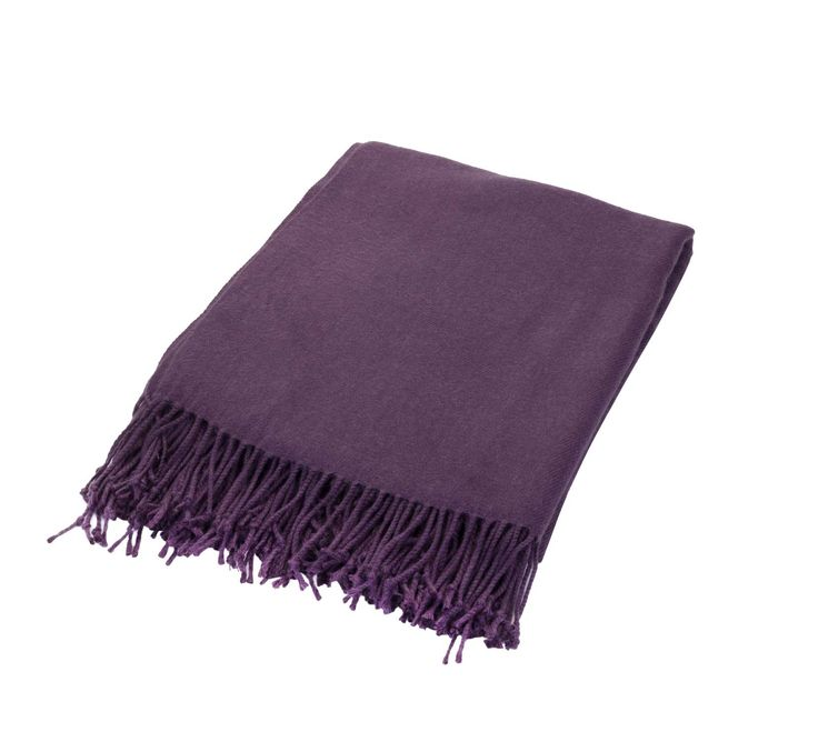 The deep violet hue of this sumptuous throw is simply irresistible - and perfect for cuddling up on cold winter nights.  Priced at £15.