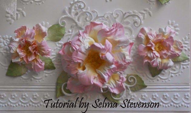 Stamp and Die Cut Flower | Selma's Stamping Corner and Floral Designs: Vintage Floret Tutorial