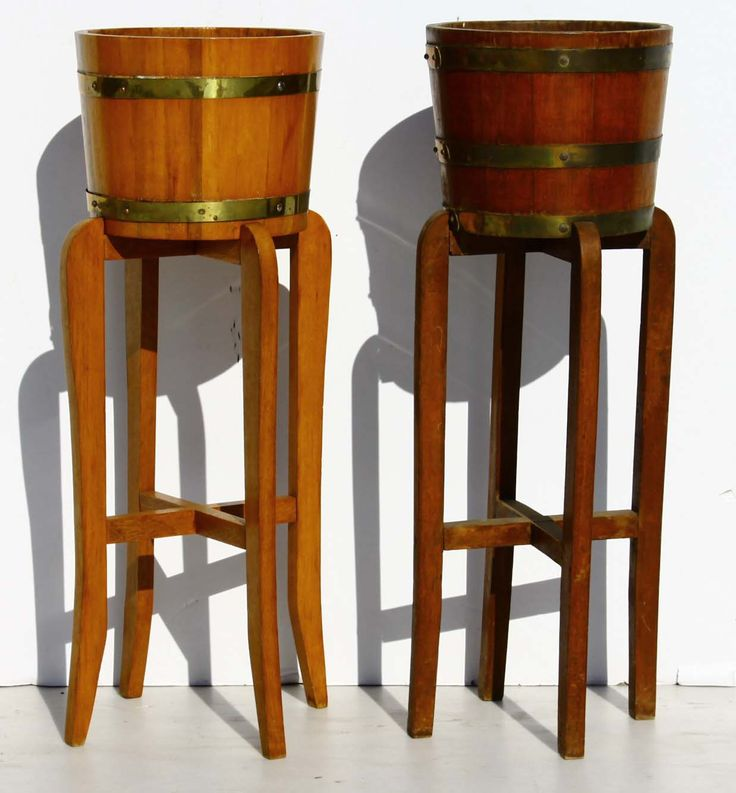 2 x Vintage Planters on Stands  size per planter on stand:  diameter 290 x 820 H  @R1500 for both  Call 0767064700