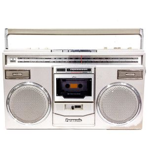 My little bro's old box!!1980s Boombox now featured on Fab.It was sold out but now I am obsessed to find it!