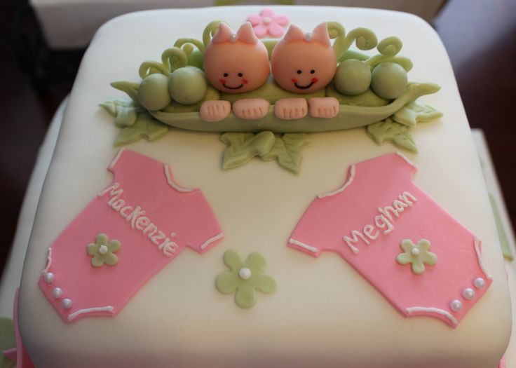 Twin Girl Baby Shower Cake Ideas Pinterest Baby