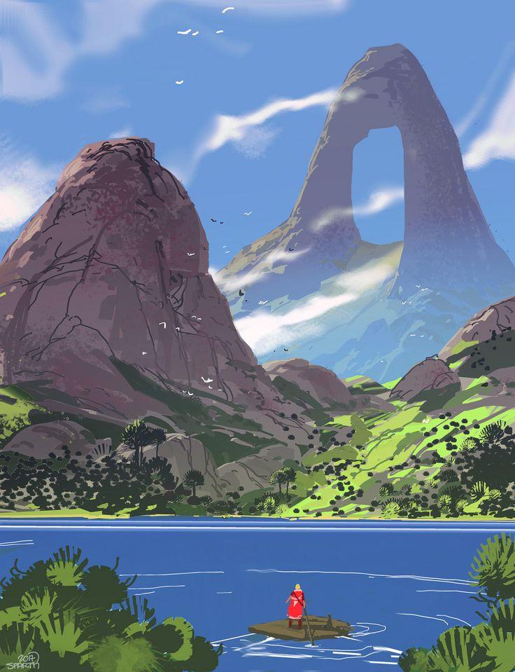 ring mountain, sparth . on ArtStation at https://www.artstation.com/artwork/Jqden