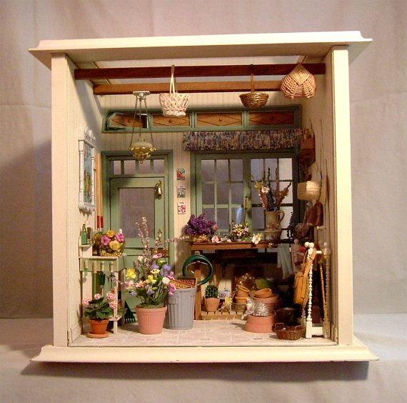cute miniature garden shed