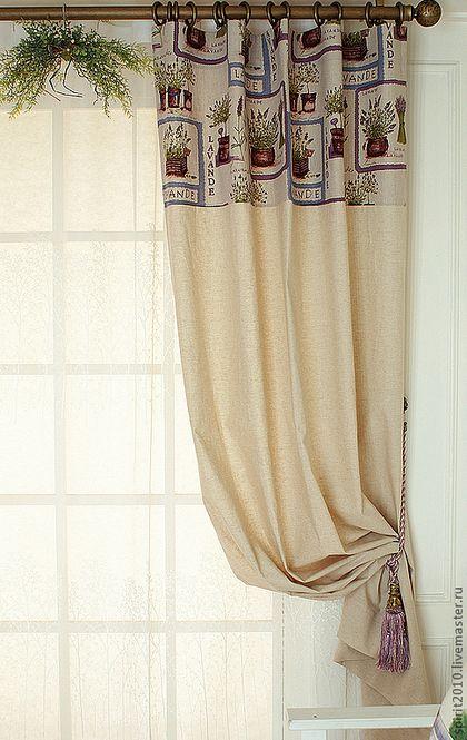 """Шторы льняные """"Лаванда"""" - сиреневый,шторы,шторы для гостиной,шторы для спальни"""
