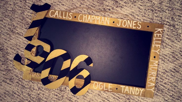 Alpha Phi Alpha Fraternity, Inc. Neophyte Gift -- Memo/Chalk Board. Includes beading for ice. Around the border it has the 7 Jewels.