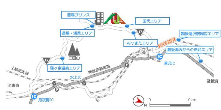 宿泊エリアマップ