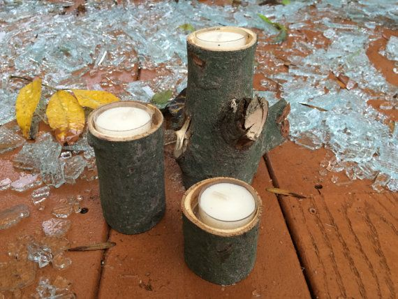 Set of 3 Tree Branch Candles with staggering heights. Perfect for home décor, and fantastic for outdoor parties. Place a few around your outdoor patio, desk, kitchen, bathroom, or bedroom.