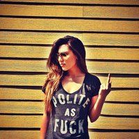 I should own this. Polite as F#ck Tee - $22