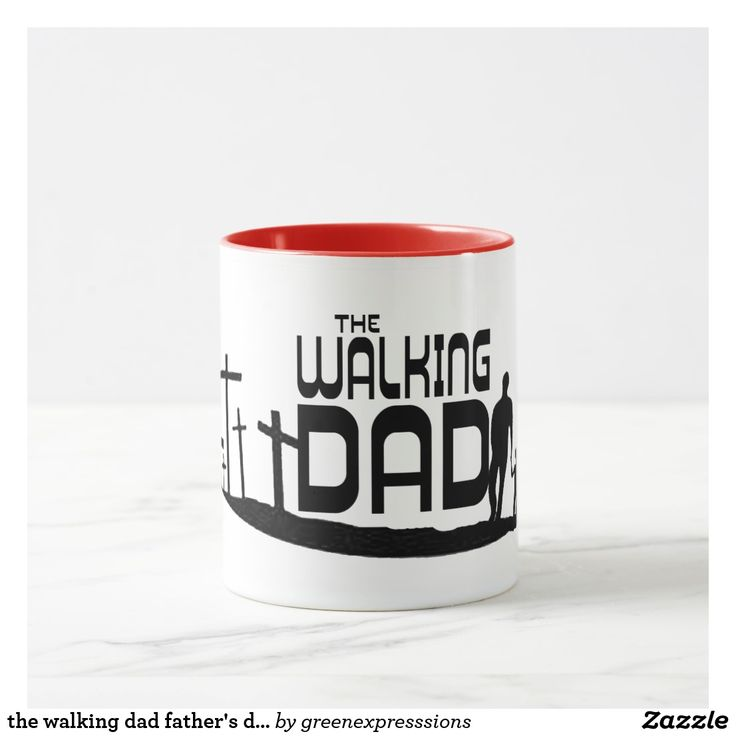 the walking dad father's day gift idea mug funny