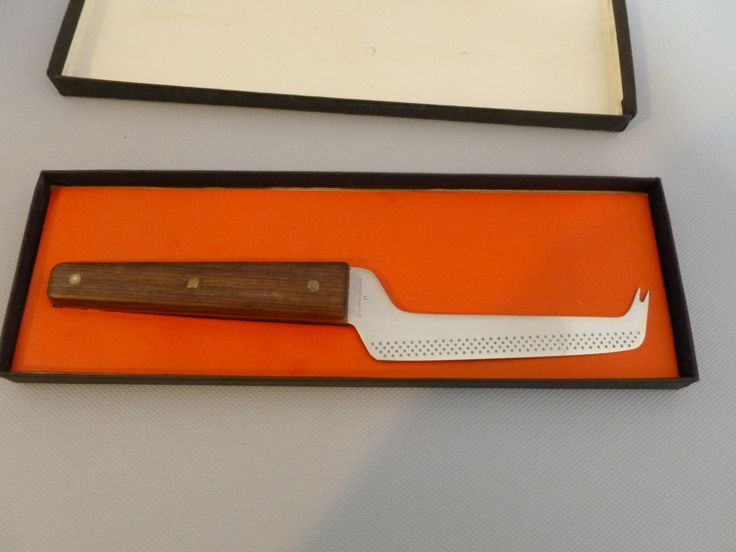 Lauffer Mid Century Cheese Knife Wood Handle Made In Germany by Tracyloustreasures on Etsy