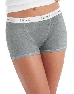 Hanes Women's Boyfriend Boxer Brief with Comfort Flex® Waistband 2-Pack YES PLEASE!