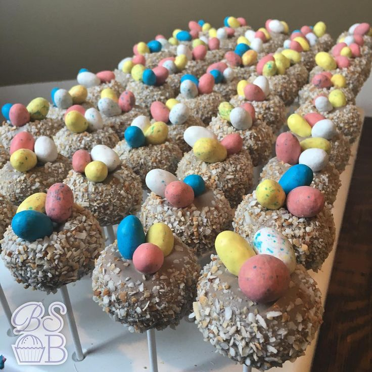 #toastedcoconut flavored #cakepop #nests are among the MANY #easter #treats at @scratchcupcakery this week! Stop by any location to get your sweets fix! #cupcakes #cakepops #cakeballs #iowacity #desmoines #cedarfalls