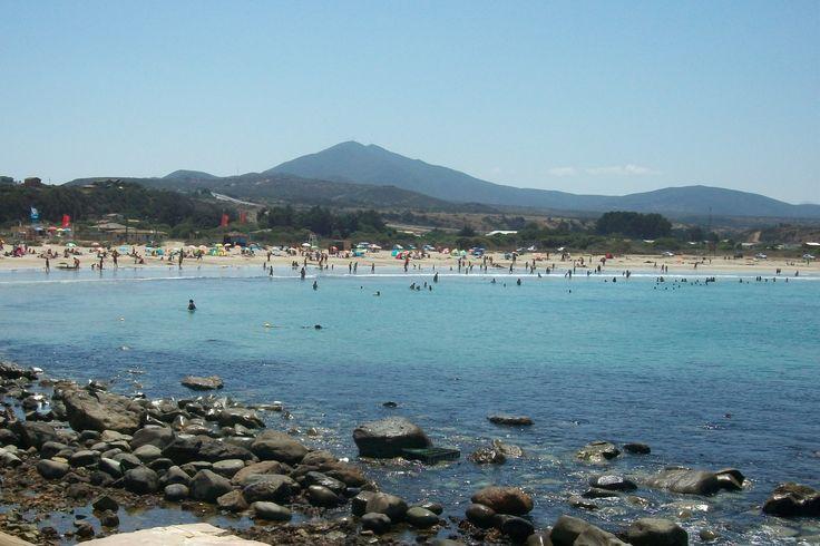 Hermosa Playa en Los Molles, Chile.