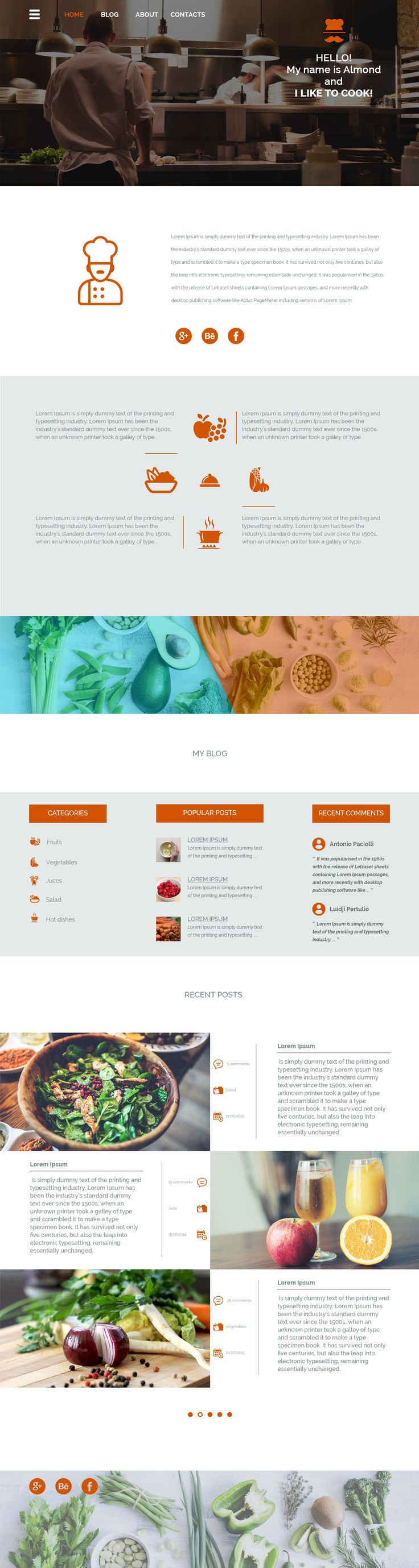 Blog About Cooking by LD on Creative Market
