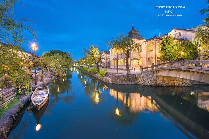 今でもたくさんの観光客が訪れる倉敷市美観地区。倉敷の見所。