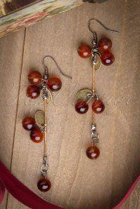 50s Tasty Cherry Brass Bracelet