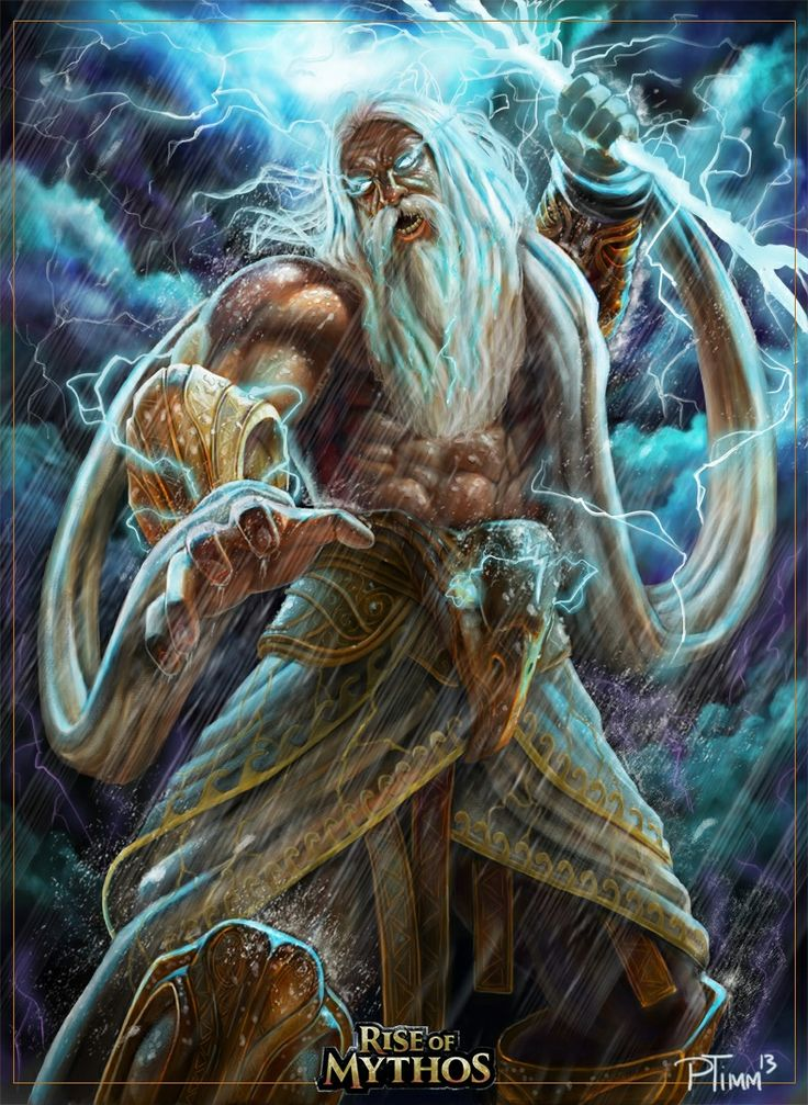 Zeus is the god of the heavens and weather.  In ancient times