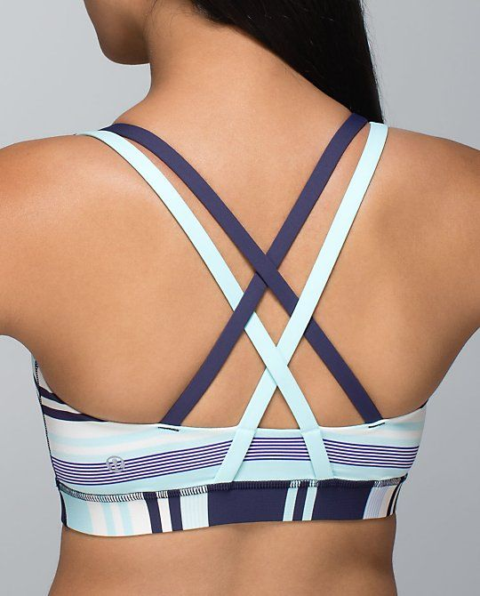 Lululemon Energy Bra. Says its for Yoga but I've heard people like it for running too. Just bought this!! I love the straps!