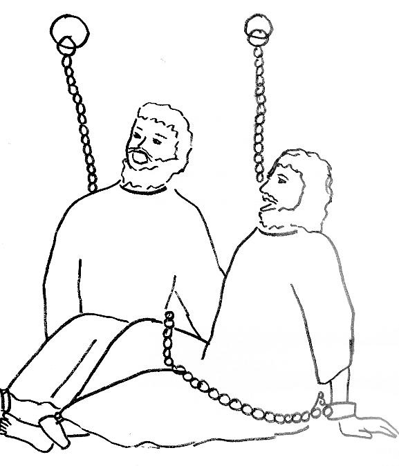 Coloring Page For Paul And Silas In Prison