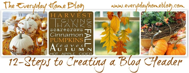 how to create a blog header
