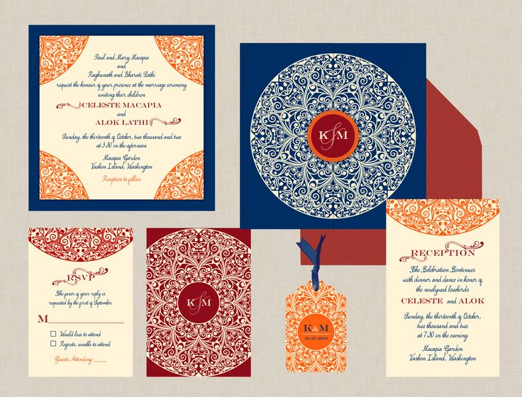 The Sundance Collection Gatefold Pocket Indian Wedding Invitations