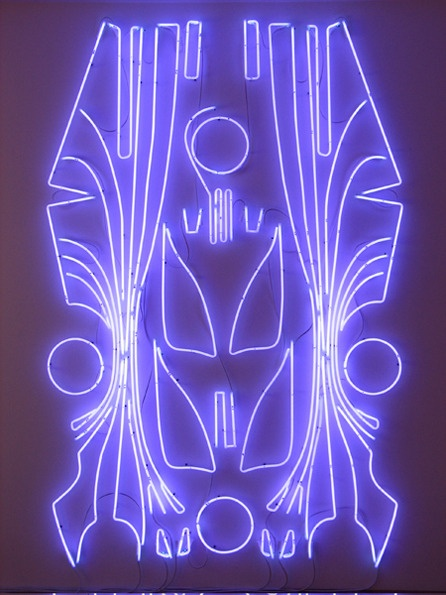 oving these big neon outlines of super car go-faster graphics by Blair Thurman