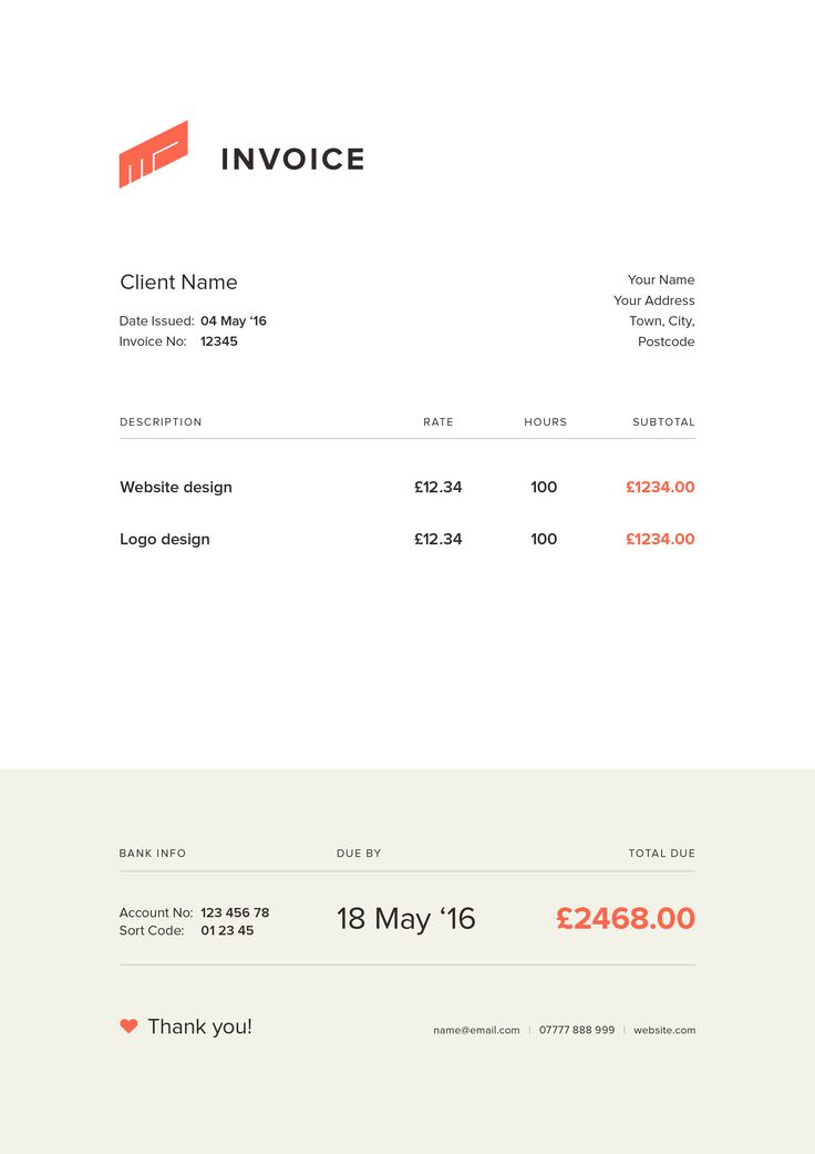 10 best Invoice images on Pinterest Invoice design, Design - web design invoice