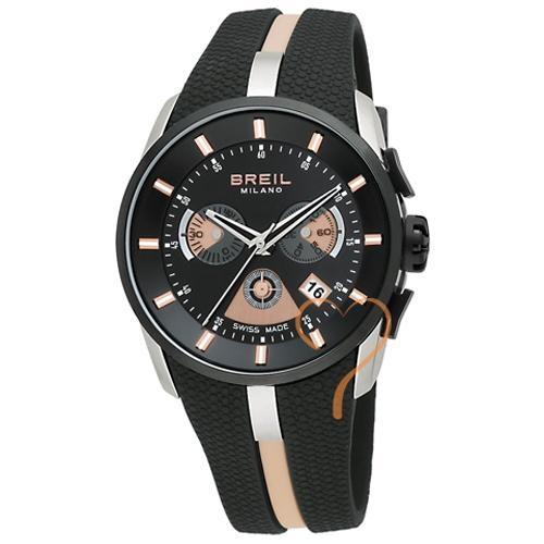 Ρολόι Breil Black Rubber Strap - BeMine.gr