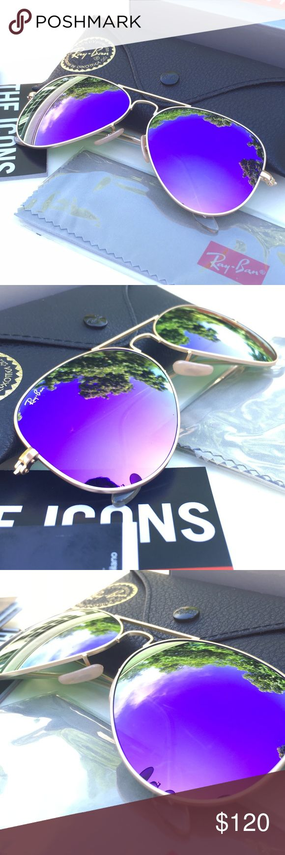RAY-BAN AVIATOR Sunglasses - Violet Flash/Gold 100% AUTHENTIC & BRAND NEW  Original RAY-BAN AVIATOR Sunglasses Violet Flash - Gold Frame Model: RB3025 112/68F (62mm)   -----------------------------------------------------------------   Product Description: Brand: Ray-Ban (100% Authentic) Lens Color: Violet Flash Frame Color: Gold Model: RB3025 Color Code: 112/68F Size:  62mm/14/3N Gender: Unisex Made: Italy  Package Includes:  - Ray-Ban Outer Paper Box - Ray-Ban Carrying Case - Ray-Ban…