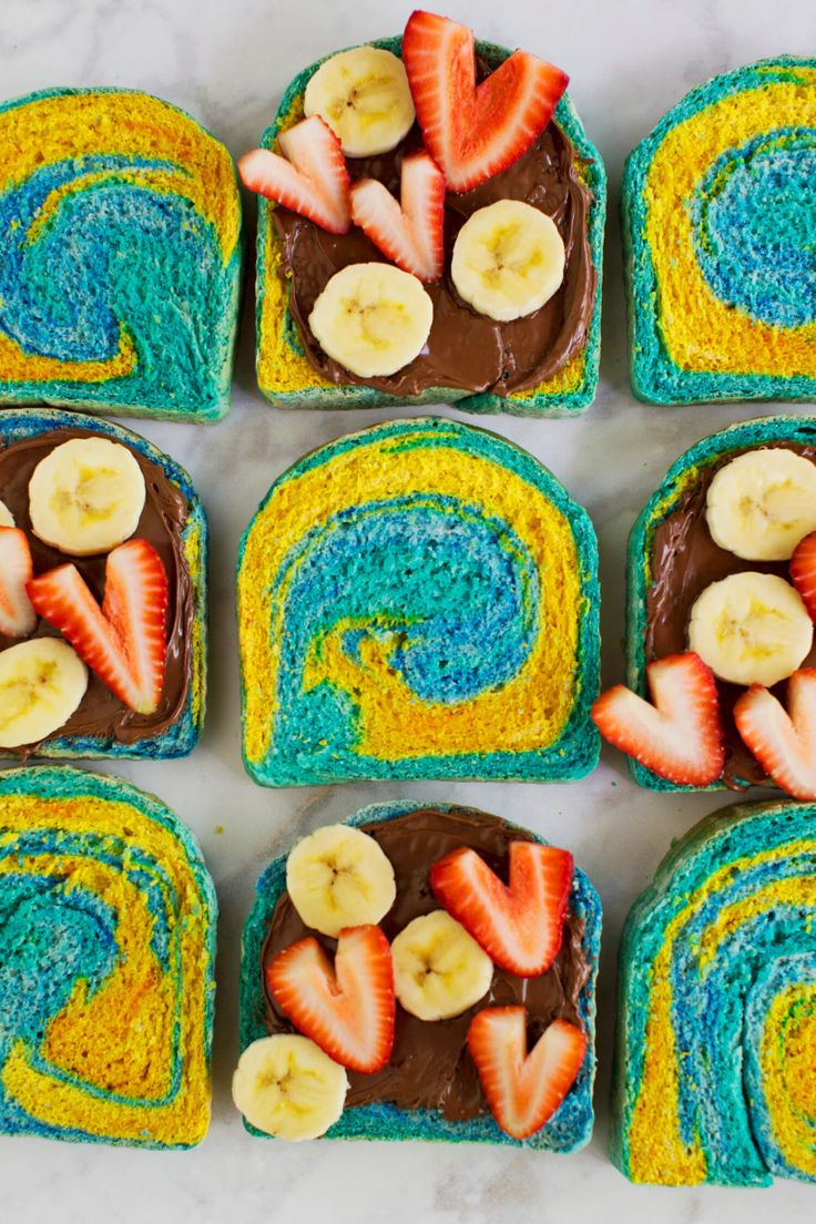 How To Make Marbled Rainbow Toast | A Beautiful Mess | Bloglovin'