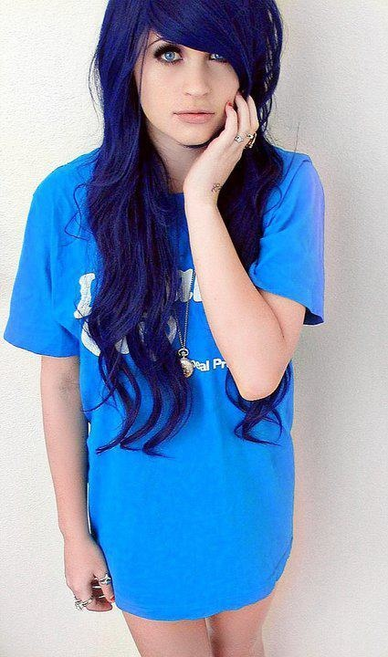 i love this blue color hair - Blue Color Hair