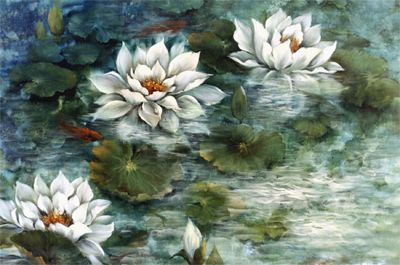 Gary Jenkins | Art Gallery | Beauty of Oil Painting | PBS  ''LILY POND'' 24X36 by KATHWREN JENKINS