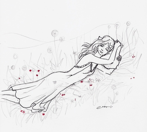sleeping in the meadow