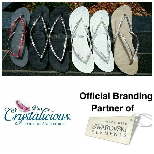 Who said Havaianas have to be boring???  We embellish them with Genuine SWAROVSKI® ELEMENTS so you stand out this summer with our Crystalicious® Havaianas    www.itscrystalicious.com   #amazing #bling #crystals #christmas #crystalicious #couture #diamonds #designer #flipflops #fashion #gifts #glam #handmade #havaianas #instasparkle #love #musthave #beach #swarovskielements #swarovski #sparkly #summer #style #trend #wow #worldwide #thongs #designershoes