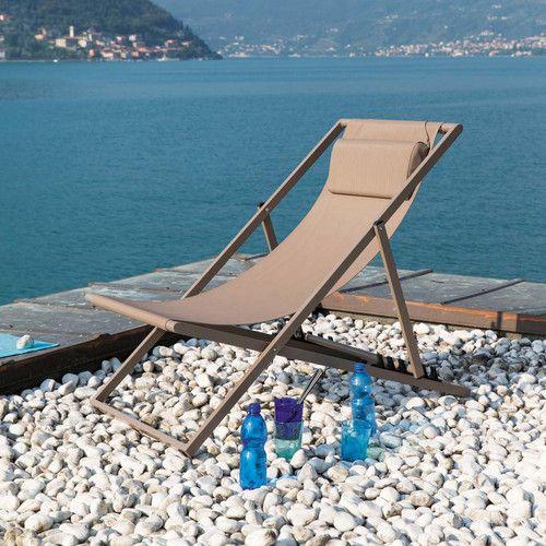 70 euro Chaise longue / sdraio pieghevole color talpa in metallo L 104 cm