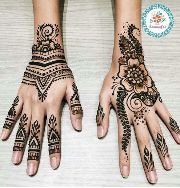 Back Hands Mehndi Design 2018