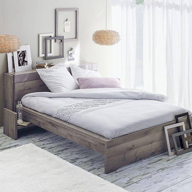 Brooklyn Lit chêne cendré avec tête de lit