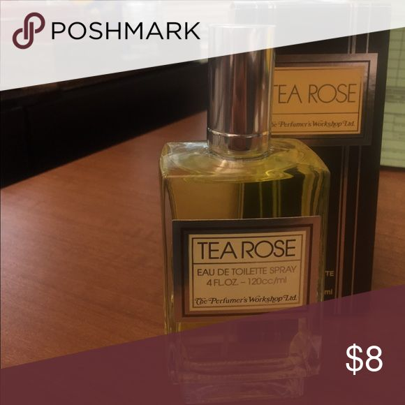 Tea Rose Perfume 4oz Sprayed it only once and very full as you can see. Makeup