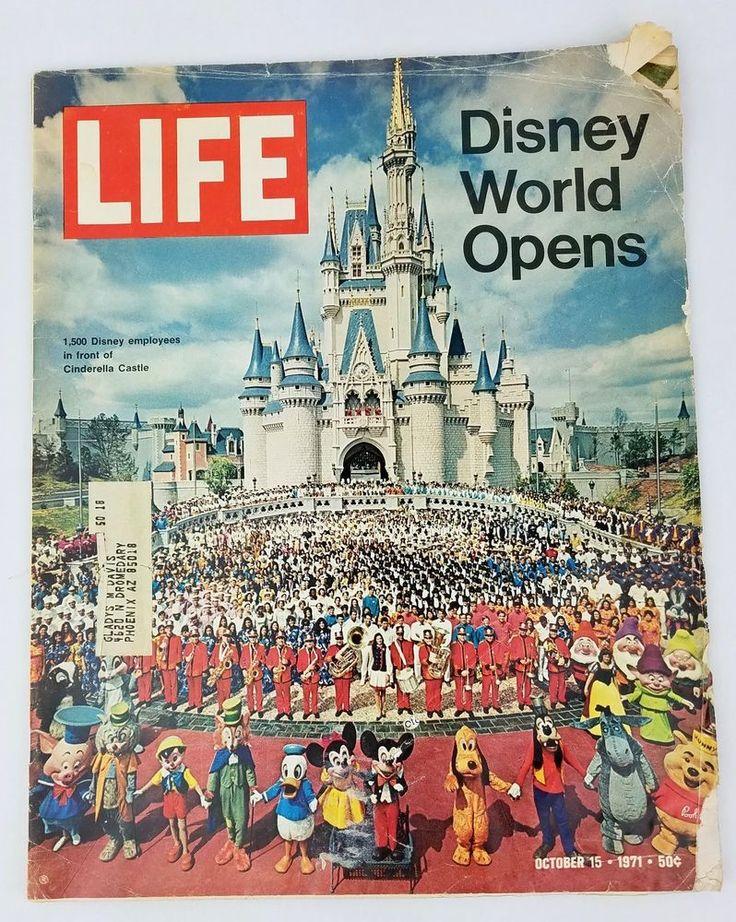 Life Magazine October 15 1971 Disney World Mickey Mouse Persepolis George Allen #Disney