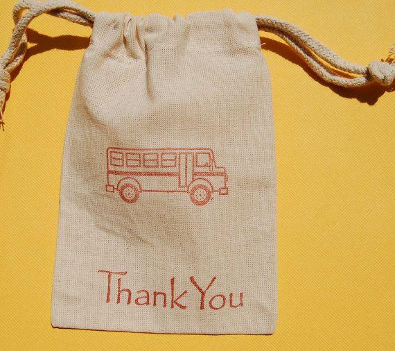 School Bus Party Favor Bag / Set of 10 / School Party. $12.50, via Etsy.