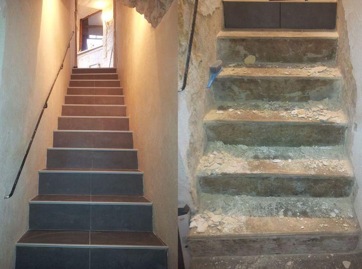 Voil un escalier qui avait besoin d 39 tre r nov mais il for Enlever une moquette