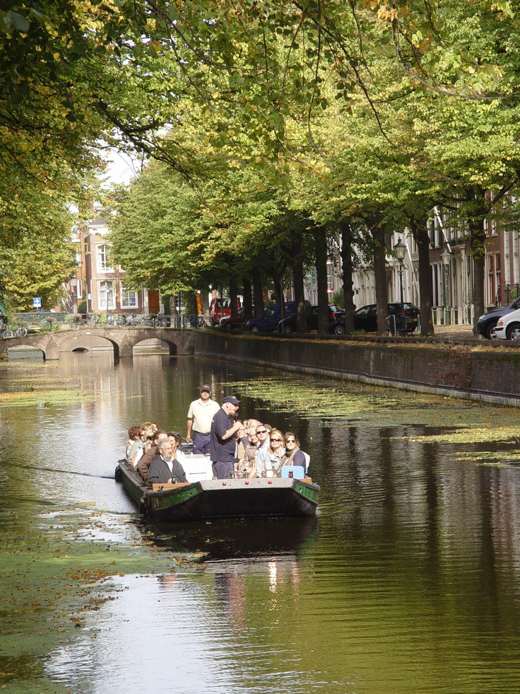View from a bridge across on of the canals in Den Haag.