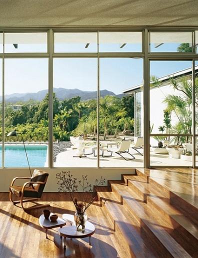 Window wallsDecor, Big Windows, Wooden Floors, Santa Monica, Dreams House, Oscars Niemeyer, Modern Living Room, Architecture Digest, Oscar Niemeyer