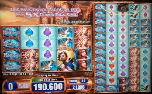 WMS slot Van Helsing pays 19.060€ during free spins with huge 100€ bet per spin!