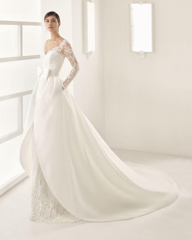OHIO vestido de novia Rosa Clará Two 2017 bello top, maniche e sopragonna