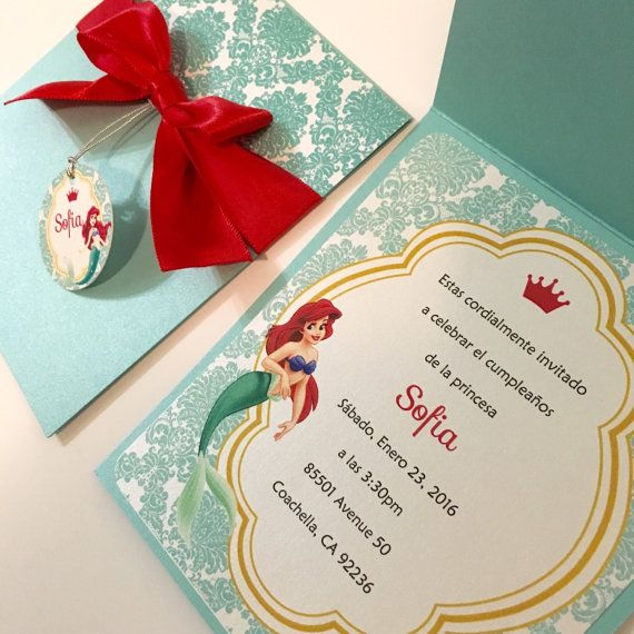 Little Mermaid Party Invitations Little por BirthdayPartyBox