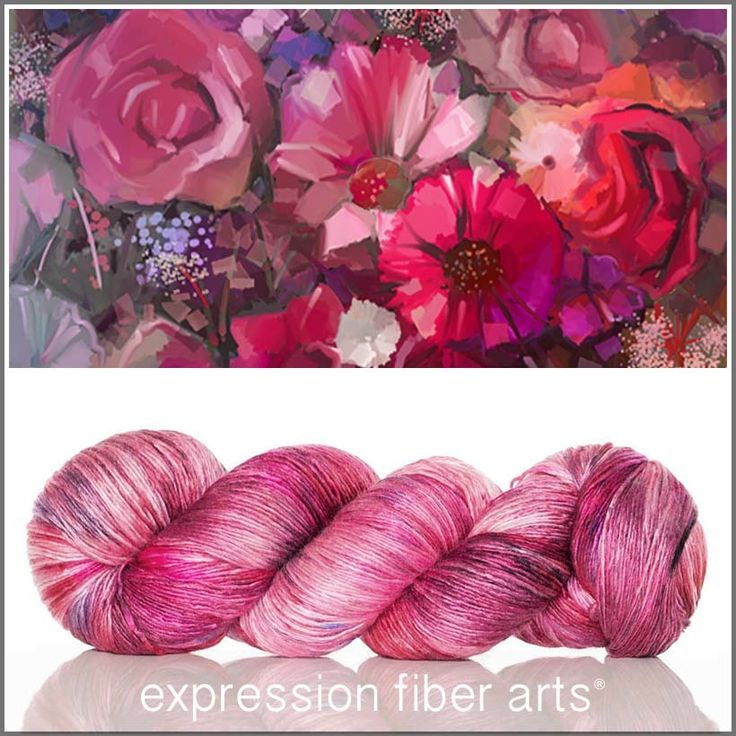 Love is the Answer - pearlescent fingering yarn by expression fiber arts